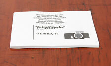 VOIGTLANDER BESSA R INSTRUCTION BOOK/138032
