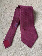 Hermes Paris Silk Pink Purple Geometric Tie Model 5338 TA