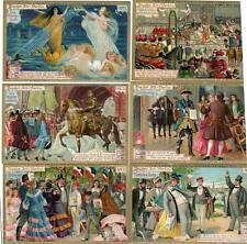 1896 COMPLETE SET/6 LIEBIG EXTRACT OF MEAT TRADE CARD*THEATRE OLD BERLIN*1*S499