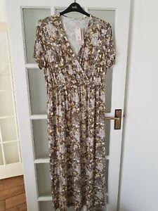 TU  summer maxi  safari print  dress  size 18  BNWT