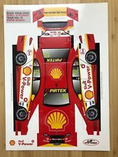 SHELL V-POWER OFFICIAL 2018 PAPER MODEL- FABIAN COULTHARD - BRAND NEW MINT COND.