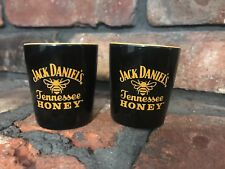 Jack Daniels Tennessee Honey ceramic shot glass set of 2