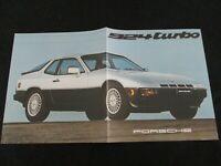 1980 Porsche 924 Turbo Large Introduction 931 Brochure US Sales Catalog