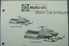 Orig 1977 Bombardier Moto-Ski Snowmobile Dealer Sales Sheet Models Sonic, Futura
