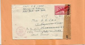WW II U.S MILITARY COVER APO 429 CAPT R.R. CASE 1943 US ARMY CENSORED NY