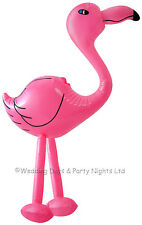64cm Inflatable Blow Up Pink Flamingo Hawaiian Tropical Pool Party Decoration