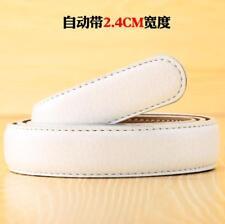 Fashion Men's Leather Automatic Ribbon Waist Strap Belt Without Buckle 5 Colors