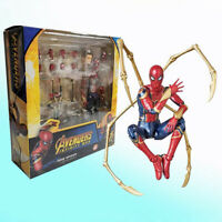 Marvel Avengers Infinity War Iron Spider-Man Action Figure In Box Mafex No.081