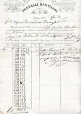 A8384) BOLOGNA 1858, FATTURA DEI FRATELLI ANGELINI, 40 BALLE RISO PILATO.
