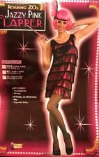 Roaring 20's Jazzy Pink Flapper Costume Woman XS/S Fits Sizes (2-6)