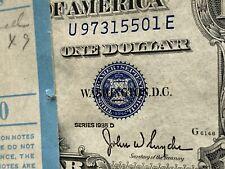 One (1) 1935D $1 SILVER CERTIFICATE VERY RARE GEM UNCIRCULA CONSEC NO MOTTO BILL