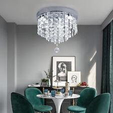 Modern Crystal Ceiling Light Mini Chandelier Pendant Lamp Flush Mount Home Decor