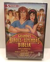 GRANDES HEROES Y LEYENDAS DE LA BIBLIA VOL 1 Spanish Language Bible DVD SET NEW
