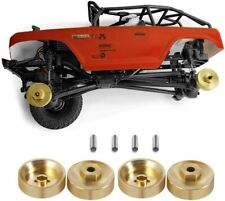 4 X Brass Wheel Weights for Axial Scx24 1 24 RC Crawler *uk Stock*