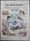Albert ROBIDA Journal LA CARICATURE N°28 1880 Couv Couleur Nouveau Code du Duel