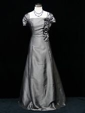 Cherlone Plus Size Grey Ballgown Wedding Evening Bridesmaid Formal Dress 20