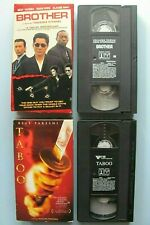 Brother 2000 & Taboo 2001 ~ 2 VHS Beat Takeshi Movie Lot WORKS TriStar Kitano