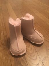 WINTER READY! UGG Baby Girls Boots Infant Baby Pink Fur US Small