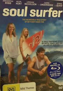 Soul Surfer DVD True Story Bethany Hamilton Helen Hunt DennisQuaid, GC,R4,Free📮
