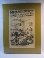 Antique, Vintage 1872  Harper's Weekly Journal Front Page Only with Matte Board.