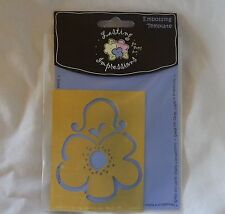 Scrapbooking Cards Lasting Impressions Embossing Template L9209 Flower Purse