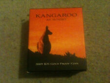 2009 $25 Kangaroo At Sunset 1/5oz  Gold Proof Coin