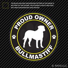 Proud Owner Bullmastiff Sticker Decal Self Adhesive Vinyl dog canine pet