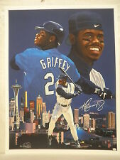 Ken Griffey Jr Signed Seattle Mariners Limited Edition Danny Day Giclee JSA