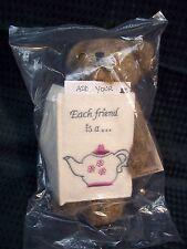 """Boyds Bears NEW 6"""" Greeting Card Teddy Bear ** Verna **   'Each friend is a..'"""
