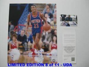 ISIAH THOMAS signed/autographed DETROIT PISTONS 16x20 Photo LIMITED 8/11 - UDA