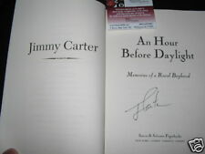 JIMMY CARTER AN HOUR BEFORE DAYLIT JSA/COA SIGNED BOOK