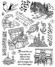 Unmounted Rubber Stamps Sheets, Piano Cats, Sayings & Quotes, Friendship, Tools