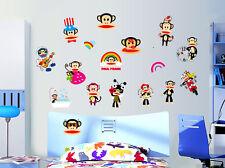 Julius Monkeys Wall Stickers Removable Kids Nursery Room Decal Home Decor