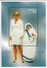 Jamaica - 1998 Princess Diana with Mother Theresa - Souvenir Sheet - MNH