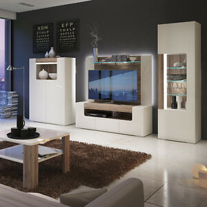 Toronto TV Cabinet Entertainment (led lights in rear panel) & Matching Furniture