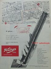 PUBLICITE KNIRPS AUTO PARAPLUIE ANTI PLUIE POCHE DE 1960 FRENCH AD PUB VINTAGE