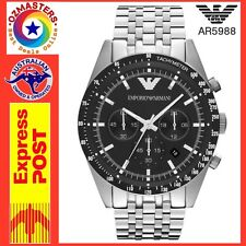 Emporio Armani Men's AR5988 Sportivo Analog Display Analog Quartz Silver Watch