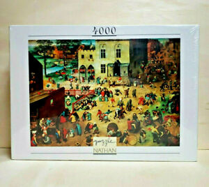 Children Games (Jeux d'enfants) Pieter Bruegel Nathan Puzzle 4000 Pcs 1997 NEW