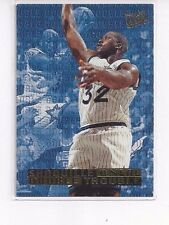 1995-96 FLEER ULTRA DOUBLE TROUBLE INSERT SHAQUILLE O'NEAL #6 OF 10 - MAGIC