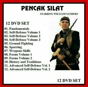 PENCAK SILAT 12 DVD Set William Sanders training series     panther productions