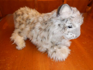 Hansa Plush Snow Leopard - Crouching/Laying