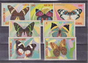 equatorial guinea 1977 butterfly,set MNH    m1396
