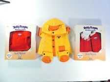 World of TEDDY RUXPIN Lot of 3 ADVENTURE OUTFITS Sleeping FLYING Rain clothing