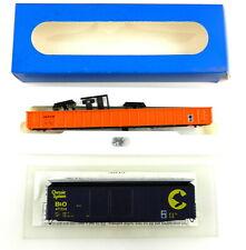 E&C Shops Ho Chessie B&O Dd Boxcar+D&Gw Gondola Kits ~Partial Builds~ T108