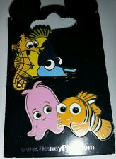 DISNEY WDW NEW FINDING NEMO PEARL SHELDON OPEN EDITION TWO PIN SET ON CARD