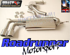 Milltek Cat Back Exhaust Golf GT 1.4 TSI MK6 160BHP Stainless System Resonated