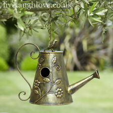 Gilded Watering Can Birdhouse