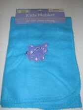 "New Greenbrier Max Gray Blue Fleece Elephant Kid's Throw Blanket - 30"" x 30"""