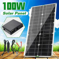 100W Solar Panel Kit 12V Battery Charger 10A-100A Controller Caravan Boat