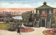 FAMOUS CAMERA OBSCURA Santa Monica, CA La Monica Ballroom 1910s Vintage Postcard